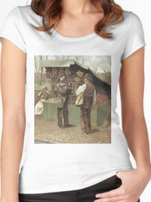 Vintage famous art - George Bacon Wood - The Fifteenth Amendment  Civil Rights Women's Fitted Scoop T-Shirt