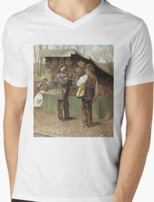Vintage famous art - George Bacon Wood - The Fifteenth Amendment  Civil Rights Mens V-Neck T-Shirt