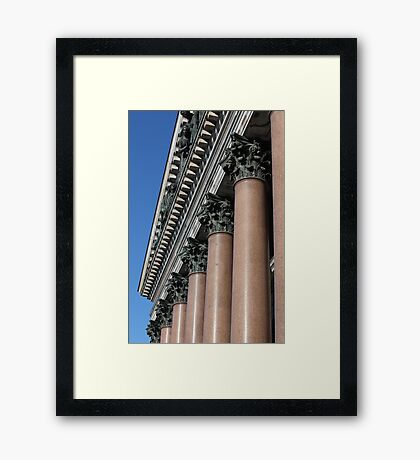 columns with  decorated chapiter Framed Print