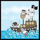 Rubbity Dub...three pirate pigs in a tub by Diana-Lee Saville