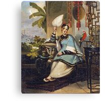 George Chinnery - Portrait Of A Girl Canvas Print