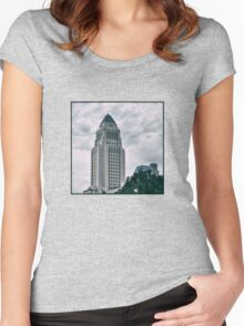 Los Angeles City Hall Women's Fitted Scoop T-Shirt