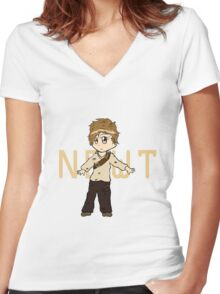 Chibi Newt - The Maze Runner Women's Fitted V-Neck T-Shirt