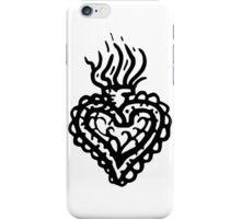 Sacred Heart Tattoo Style 2 iPhone Case/Skin