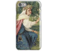 George Dunlop Leslie - Matilda - Dante, Purgatorio -Landscape , Flowers , Woman Portrait  iPhone Case/Skin