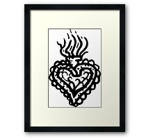 Sacred Heart Tattoo Style 2 Framed Print
