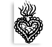 Sacred Heart Tattoo Style 2 Canvas Print