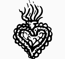 Sacred Heart Tattoo Style 2 Women's Fitted V-Neck T-Shirt