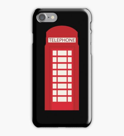 England Telephone Booth iPhone Case/Skin