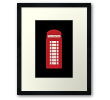 England Telephone Booth Framed Print