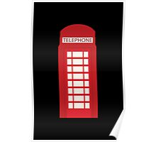 England Telephone Booth Poster