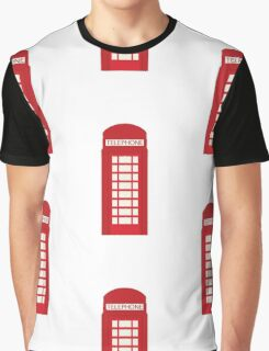 England Telephone Booth Graphic T-Shirt