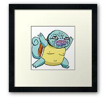 Squirtle-based memes Framed Print
