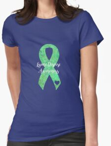 Lyme Mandala Ribbon Womens Fitted T-Shirt