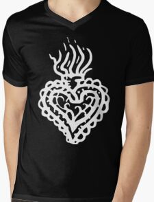 Sacred Heart Tattoo Style 2 White T-Shirt