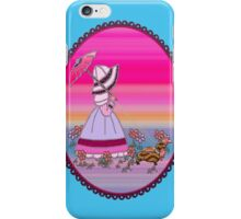 Sunbonnet  walking with dachshund love dogs iPhone Case/Skin