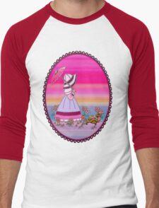 Sunbonnet  walking with dachshund love dogs Men's Baseball ¾ T-Shirt
