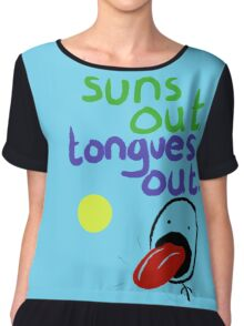 Sun's out, Tongues out Chiffon Top