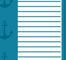 Trendy Nautical Blue and White Stripe Design Sticker