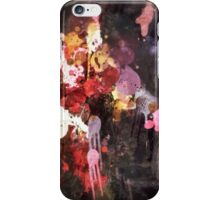 Allure Abstract Painting in Red, Purple, Gold and Black iPhone Case/Skin