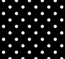 Small Polka Dots Pattern - Black and White Sticker