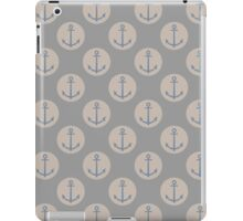 Nautical Anchor Natural Grey And Cream iPad Case/Skin