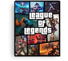 leauge of legends gta poster Canvas Print