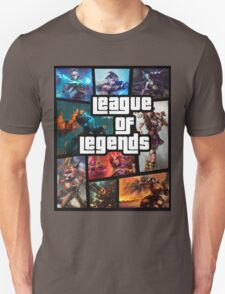 leauge of legends gta poster T-Shirt