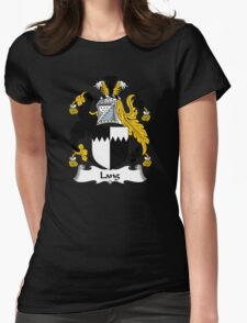 Lang Coat of Arms / Lang Family Crest Womens Fitted T-Shirt