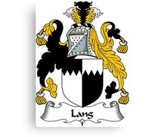 Lang Coat of Arms / Lang Family Crest Canvas Print