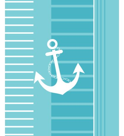 Trendy Nautical Blue and White Stripe Design Sticker