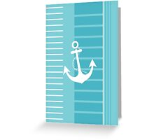 Trendy Nautical Blue and White Stripe Design Greeting Card