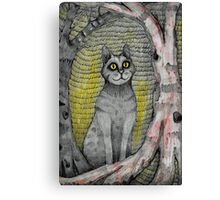 cat in the woods Canvas Print