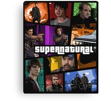 supernatural gta poster Canvas Print