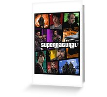 supernatural gta poster Greeting Card