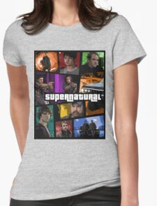 supernatural gta poster Womens Fitted T-Shirt