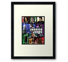 jessica jones gta poster Framed Print