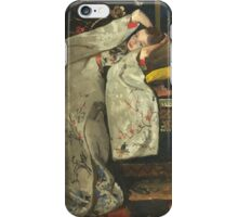 Vintage famous art - George Hendrik Breitner - Girl In White Kimono iPhone Case/Skin