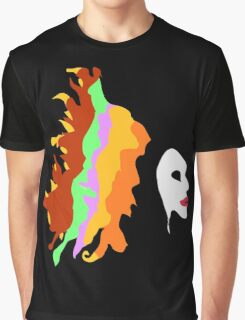 Girl with Hair Colors Graphic T-Shirt