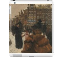 Vintage famous art - George Hendrik Breitner - The Bridge Over The Singel At The Paleisstraat, Amsterdam iPad Case/Skin