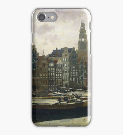 Vintage famous art - George Hendrik Breitner - The Damrak, Amsterdam iPhone Case/Skin