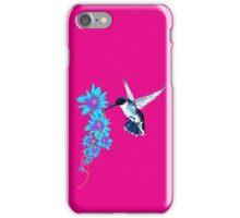 Humming Bird In Blue iPhone Case/Skin