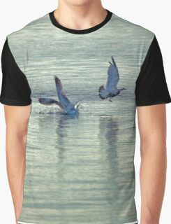 Collision Of Two Seagulls | Springs, New York Graphic T-Shirt