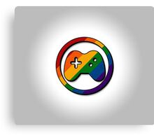 Rainbow Game Controller Icon Canvas Print