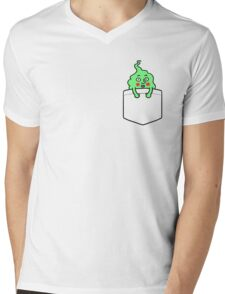pocket dimple Mens V-Neck T-Shirt