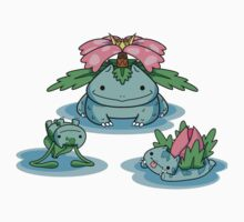 Cute Bulbasaur Family Kids Tee