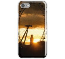 Framing the Sunset in London - the London Eye and Big Ben  iPhone Case/Skin