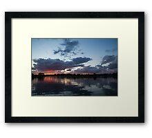 Sunset Afterburner Framed Print