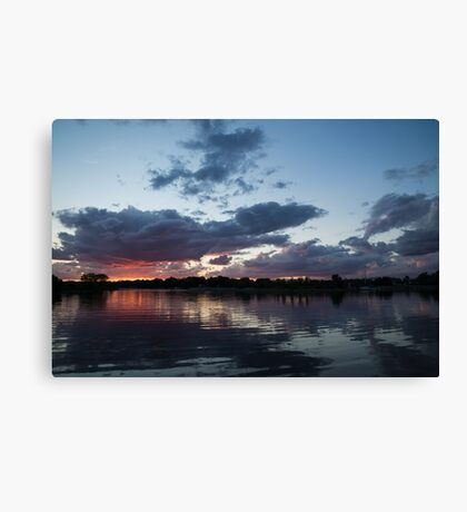 Sunset Afterburner Canvas Print