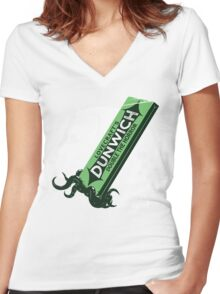 The Dunwich Twins Women's Fitted V-Neck T-Shirt